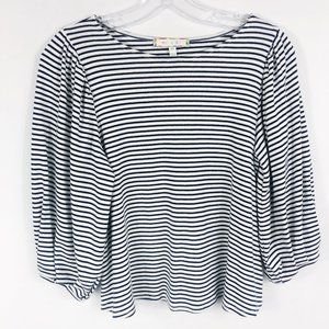 ! Anthro Eri + Ali | Striped Puff Sleeve Shirt